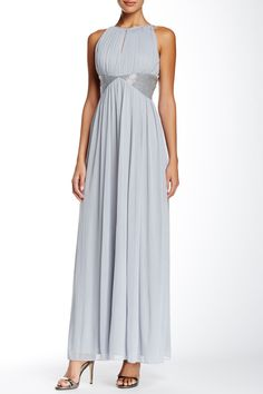 Mesh Keyhole Gown by JS Boutique on @nordstrom_rack