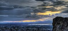 Edinburgh, Scotland from the perspective of Arthur's Seat