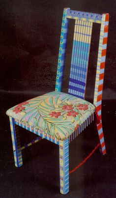 I love these painted chairs!  But I'd want to make them myself... not sure if that is within my skill level.  :-(