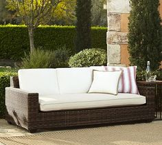Torrey All-Weather Wicker Square Sofa #potterybarn