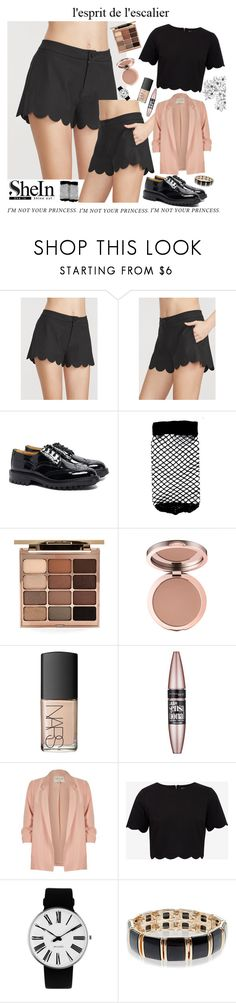 """l'esprit de l'escalier..."" by c-b-bligaard ❤ liked on Polyvore featuring Tricker's, ASOS, Stila, NARS Cosmetics, Maybelline, River Island, Ted Baker, Rosendahl and Accessorize"