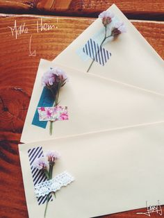 Dry-Flowers + Washi tape envelopes DIY | Inspiration Nook