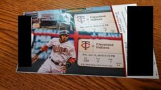 US Bancorp has generously donated two tickets to the Minnesota Twins versus Cleveland Indians game Saturday, July 16, 2016. Game begins 6:10 p.m. at T... #tickets #indians #cleveland #twins #minnesota