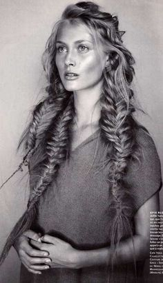 A trio of romantic braids. / #hair