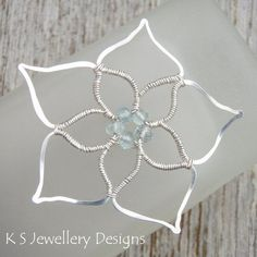 Wire Jewelry Tutorial FIVE BEAD FLOWERS by KSJewelleryDesigns