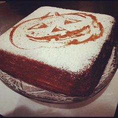 My pumpkin cake last month when Halloween came over