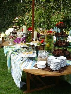 Butler For Hire Catering & Personal Chef: Garden Cocktail Party Catering Buffet, Catering Display, Catering Food, Catering Ideas, Party Food Table Ideas, Party Buffet, Ideas Party, Food Ideas, Party Hacks