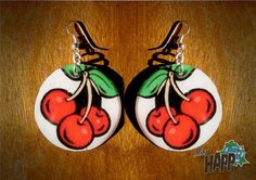 Rockabilly Cherry Delight Earrings by MissHapp on Etsy, $7.00