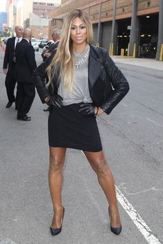 """Laverne Cox is serving! Give me life, Sophia! 