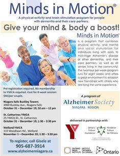 minds in motion, exercise, meaningful activities, social engagement Niagara Region, Alzheimers, Physical Activities, Physics, Mindfulness, Exercise, Ejercicio, Excercise, Physics Humor