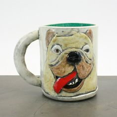 Custom Ceramic Mug: Pet portrait, handmade, hand-built, created from your photo, personalized gift idea, animal portrait, animal mug