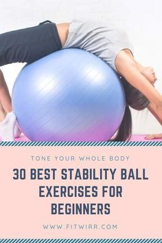30 best stability ball core and abs exercises for beginners. Use an exercise bal. 30 best stability ball core and abs exercises for beginners. Use an exercise ball and perform these Fitness Workouts, Slim Fitness, Fun Workouts, Yoga Fitness, Fitness Tips, At Home Workouts, Fitness Ball Exercises, Exercise Ball Abs, Physical Fitness