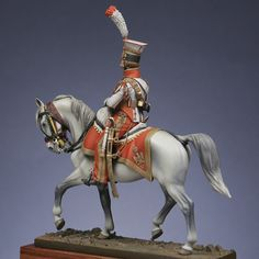 Mounted figure : Trumpeter, red lancers of the guard 1813