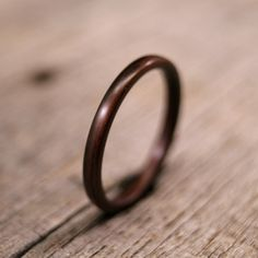 narrow and wooden ring