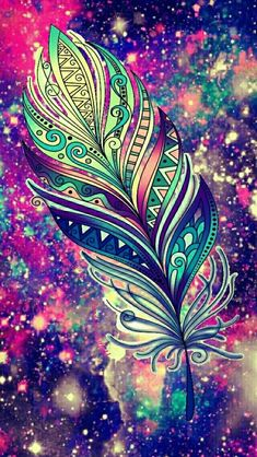 Feather sparkle galaxy wallpaper i made for the app cocoppa. papéis de parede do telefone Mandala Wallpaper, Galaxy Wallpaper, Cool Wallpaper, Wallpaper Backgrounds, Iphone Wallpaper, Feather Wallpaper, Sparkle Wallpaper, Image Mandala, Oeuvre D'art
