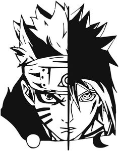 "Amazon.com: Naruto -- Naruto Uzumaki and Sasuke Uchiha Decal Sticker for Car/Truck/Laptop (5.5"" X 4.3""): Automotive"