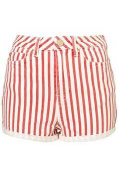 stripey hotpants - would like to be able to carry these off