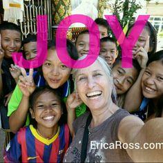 Joy, all the way. www.EricaRoss.com