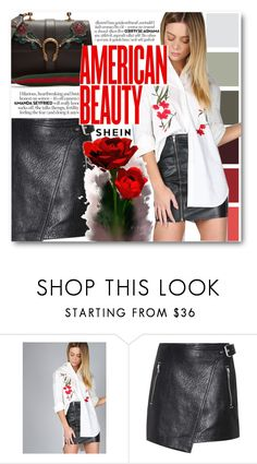 """""""shein"""" by konstadinagee ❤ liked on Polyvore featuring Étoile Isabel Marant and Gucci"""