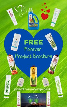Here's your fab opportunity to get a FREE Forever online Product Brochure to browse through at your leisure. I think you'll be well surprised at Forever's extensive product range and at all the care and quality they invest in each and every product, be it an aloe vera juice drink, weight management products Aloe Vera Diet, Clean 9 Diet & F15, or their personal care, skincare, nutritional supplements, bee products etc. Click the embedded link to get your brochure. Option to shop on page 44!