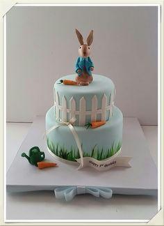 Peter  rabbit  cake Peter Rabbit Cake, Peter Rabbit Birthday, Peter Rabbit Party, Boys 1st Birthday Party Ideas, 1st Boy Birthday, Tea Party Baby Shower, Baby Shower Cakes, Beatrix Potter Cake, Fab Cakes