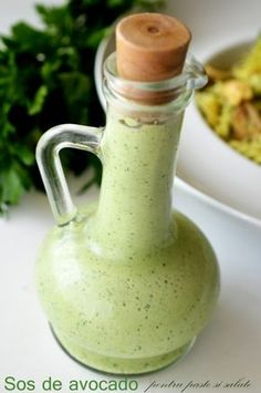 sos de avocado Good Food, Yummy Food, Salad Dressing, Food And Drink, Easy Meals, Cooking Recipes, Tasty, Vegan, Drinks