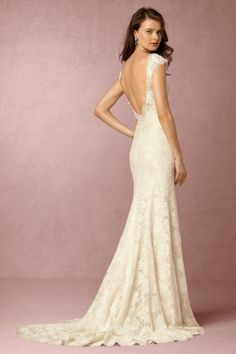 BHLDN Amalia Gown in Bride Wedding Dresses Back Detail at BHLDN