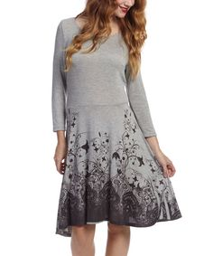 Look at this Gray & Purple Arabesque Sidetail Dress on #zulily today!