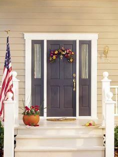 yellow house front door colors | front door paint colors - the