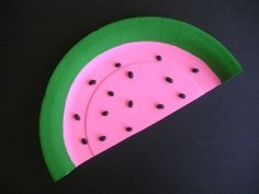 This Paper Plate Watermelon is a great craft for toddlers and preschoolers to celebrate the summer season! You could use real watermelon seeds for this craft, however, if you're doing this with a group you may have to eat a lot of watermelons to get enough seeds!