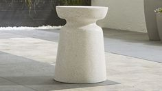 """$249 side table/stool 14"""" dia 19"""" high Crest Side Table-Stool"""