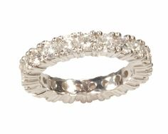 14k White Gold Diamond Eternity Wedding Ring
