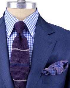 Brunello Cucinelli | Solid Navy Suit | Apparel | Men's
