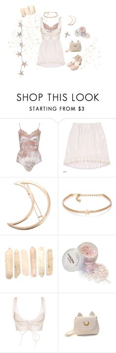 """Stardust"" by sweetpasteldream ❤ liked on Polyvore featuring Topshop, Shabby Chic, Chicnova Fashion, Kenneth Jay Lane, Usagi, pale, kawaii and angelic"