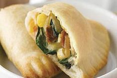 Cheesy Spinach and Bacon Empanadas recipe