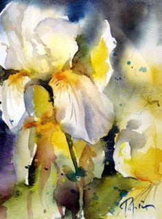 """""""Flores"""" - Aguarela de Jean Claude Papeix"""