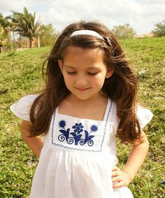 Love this White & Blue Nayelli Dress - Infant, Toddler & Girls by Little Cotton Dress on #zulily! #zulilyfinds
