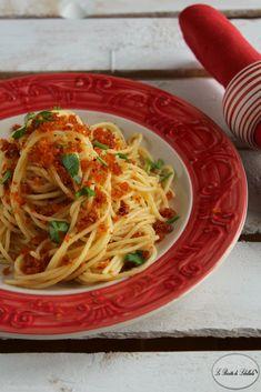 Pasta aglio olio e pomodori secchi