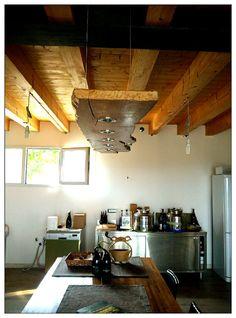 lampadario legno tronco led/chandelier wood