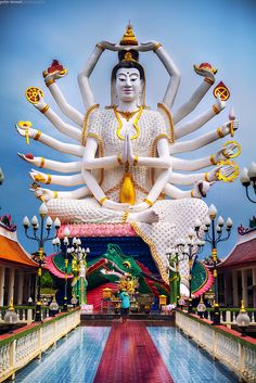 Guanyin, the Goddess of Mercy and Compassion - Surat Thani, Thailand