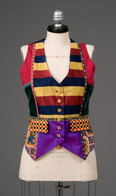 Todd Oldham patchwork vest 1990s