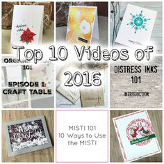 Justine's Cardmaking Today I am looking at the TOP 10 MOST VIEWED VIDEOS of mine for 2016! I love all of them and there are some amazing tips. I also created a playlist to make things easier to view http://www.justinehovey.com/2017/01/top-10-most-viewed-videos-of-2016.html