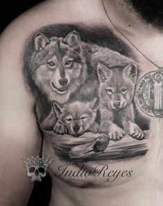 Resultado de imagen para tatuajes de lobo cachorro y mama