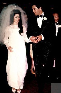 *PRISCILLA ANN BEAULIEU & ELVIS PRESLEY ~ Wedding, at Aladdin Hotel Las Vegas, May 26, 1967....Wedding Dresses From Fairytales to Hollywood