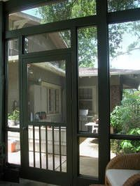 Screen Porch Inspiration: Nothing Says Screen Porch Like A Swinging Wood  Door. Our Door Is In Need Of Some Serious Repair. As In The Dog Doesnu0027t Use  The ...
