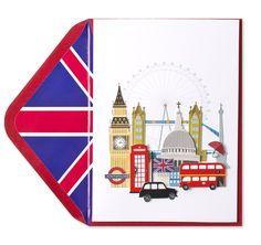 Handmade Vacation in London Greeting Card, Summer 2012