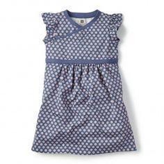 Lovely Blue Knit Dress for Little Girls | Tea Collection