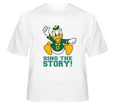 Oregon Football Fight Song T Shirt