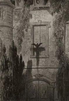 O Corvo - obra de Edgar Allan Poe. 15_Algo em minha janela Lattice