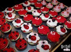 Lady Bugs Lady Bugs!!  Mini Cupcakes